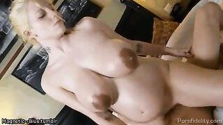 Haley Cummings enjoying a ride - Homemade Pregnant