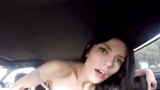 Sadie Blake in the backseat of the car. - Public Sex