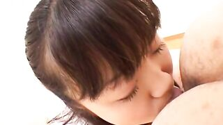 Student deep rims and eats a guy's ass - Japanese