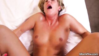 Missionary: Milf is not liking this cock. its hurts her likewise much.