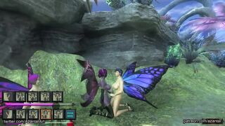 Gaming: Dickgirl butterfly walking in the dream forest