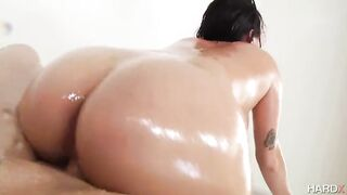Oily: Karlee Grey getting fucked reverse cowgirl - POV  Oil