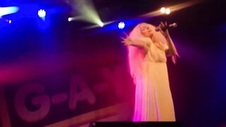 Lady Gaga gives a sneak peek on stage - On Stage
