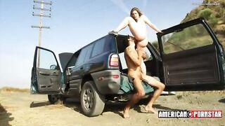 Roadside girl fucked hard sex outdoor