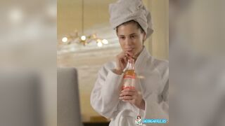 Caprice in Almflitzer Soft Drink Ad:)